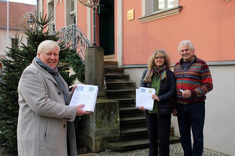 Bernhard Knuth, Kerstin und Lutz Pahl, Blühstreifenverein