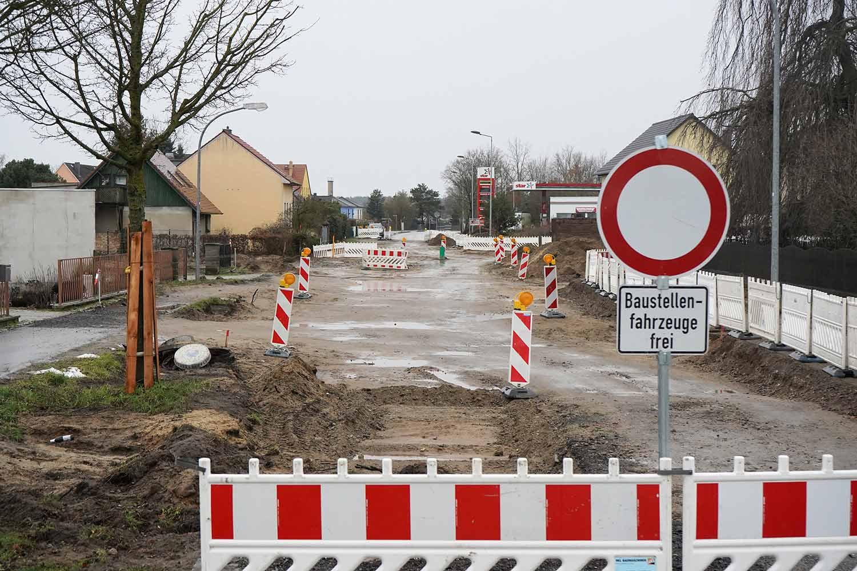 Glindow, Straßenbau