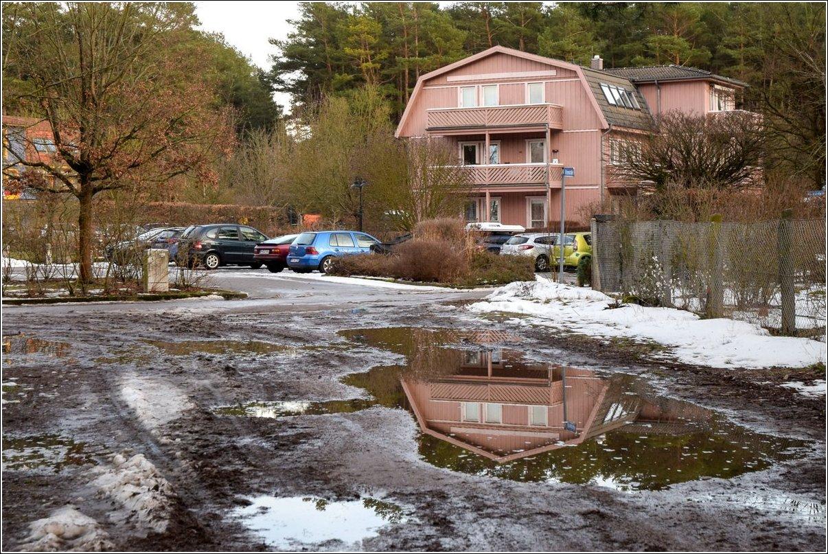 Borkwalde. Nach dem Schnee kommt das Wasser!