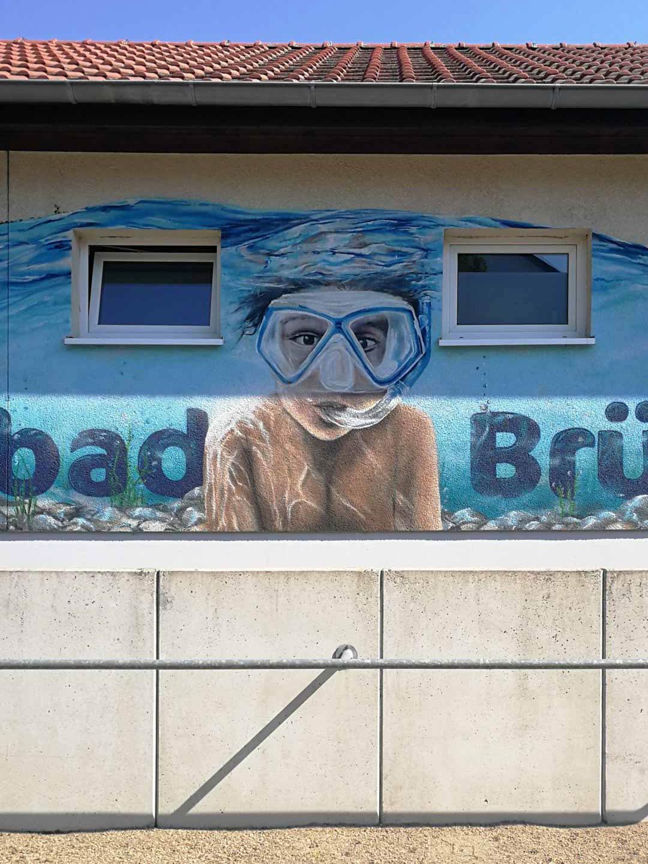 Naturbad-Brueck-Poster