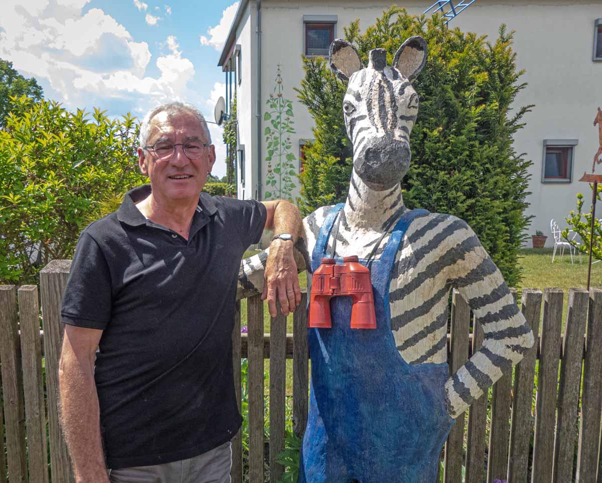José Nuevo mit seinem besonderem Zebra