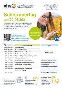"""""""Auf Schnupper-Kurs"""": Kostenfreie Schnupperangebote an der Kreisvolkshochschule Potsdam-Mittelmark"""