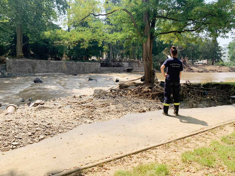 Zerstörung an der Ahr, Feuerwehr Werder