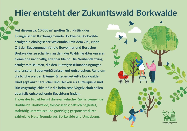 Infotafel-Zukunftswald